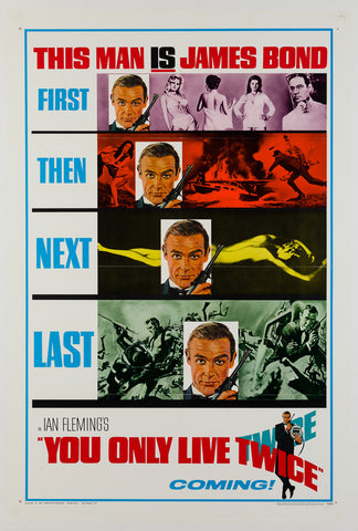 You Only Live Twice 1967 US 1 Sheet original film movie poster