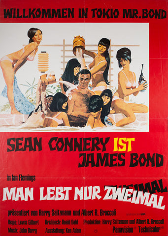 You Only Live Twice R1980s German James Bond Film Poster
