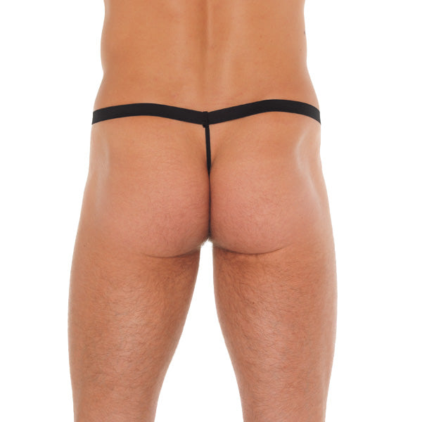 Mens Black Rat Animal Pouch GString