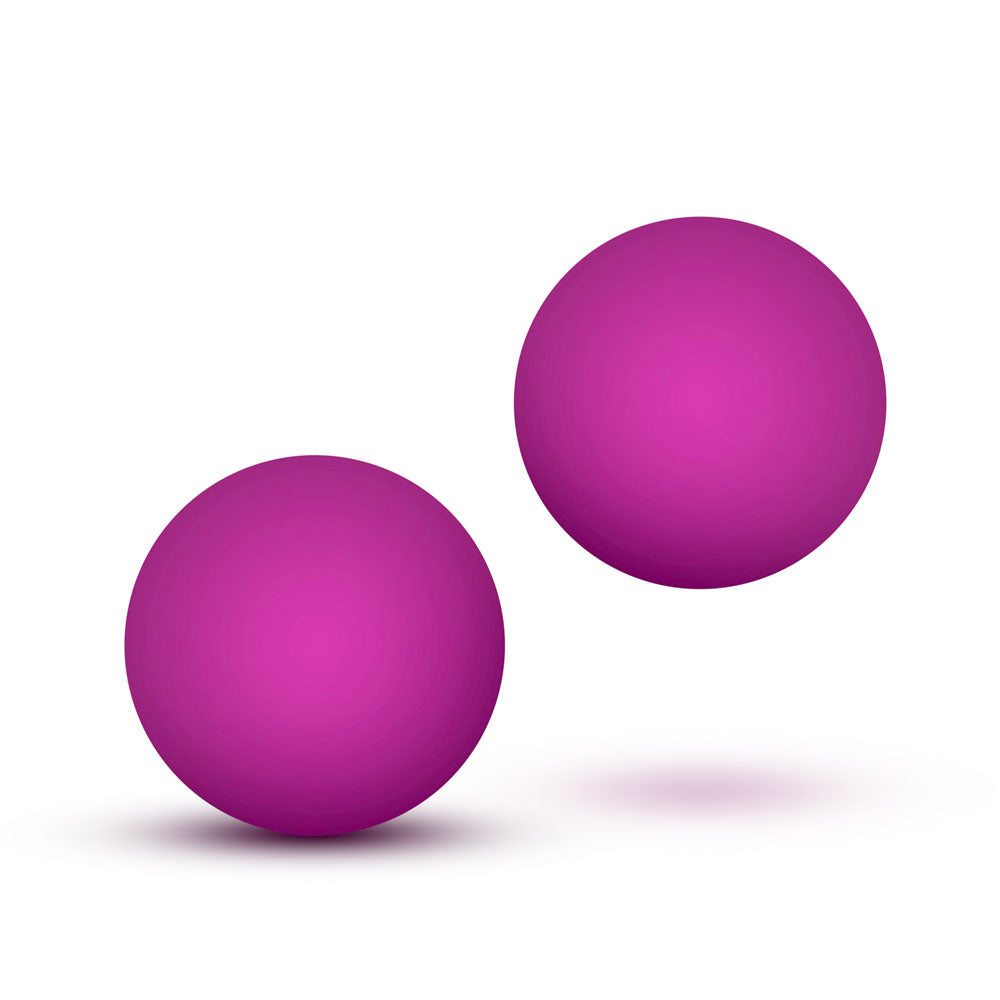 Luxe Pink Double O Kegel Balls Weighted 1.3 Ounce