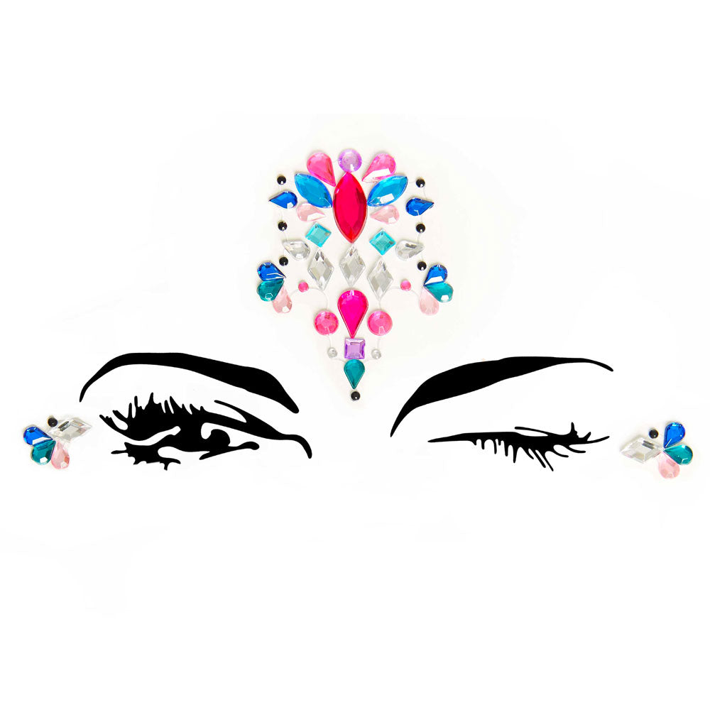 Sirene Face Jewels Sticker EYE005