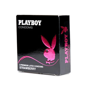 PlayBoy Strawberry Condoms 3 Pack