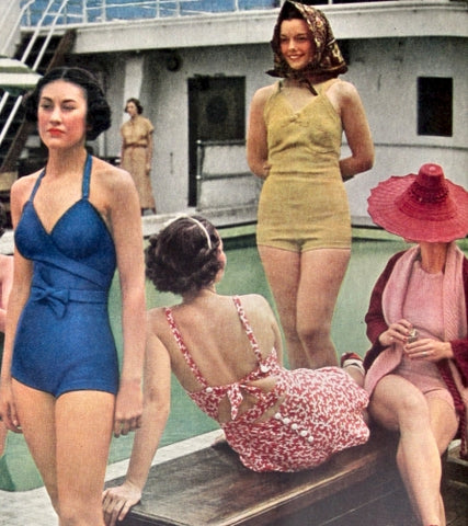 Bathing suits of the 1930s