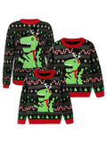 Knitted Sweater Family Matching Long Sleeve Crew Neck Pullover Outfit