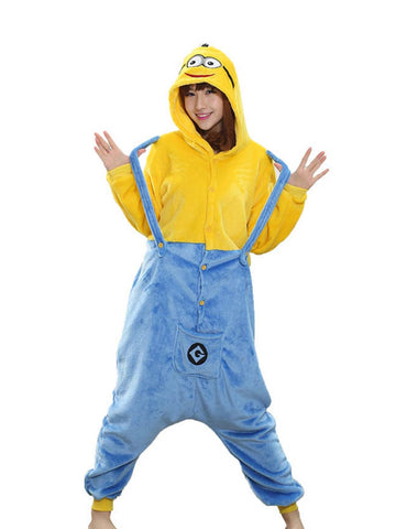 Adult Onesie Minions Cartoon Funny Suit