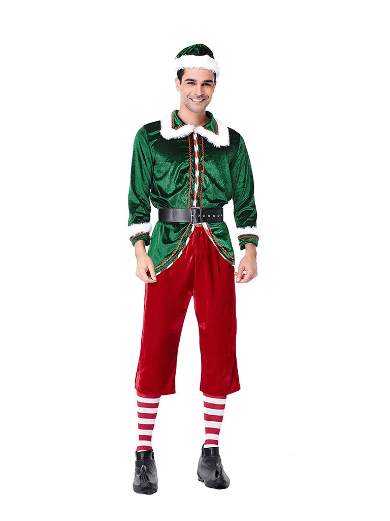 Christmas Elf Costume Woman and Man Party Cosplay Sets
