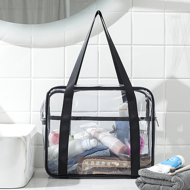 Big PVC Transparent Wash Bag Waterproof Travel Cosmetic Bag Admission Package
