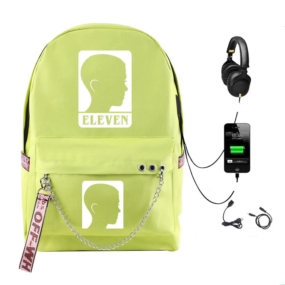 Stranger Things Zip USB Wiring Backpack