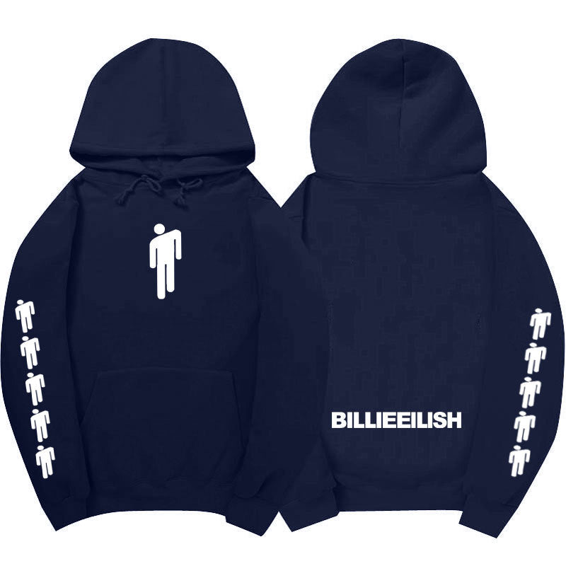 Printed Hoodies Billie Eilish Long Sleeve Hoody Casual Trendy Streetwear Hoodies
