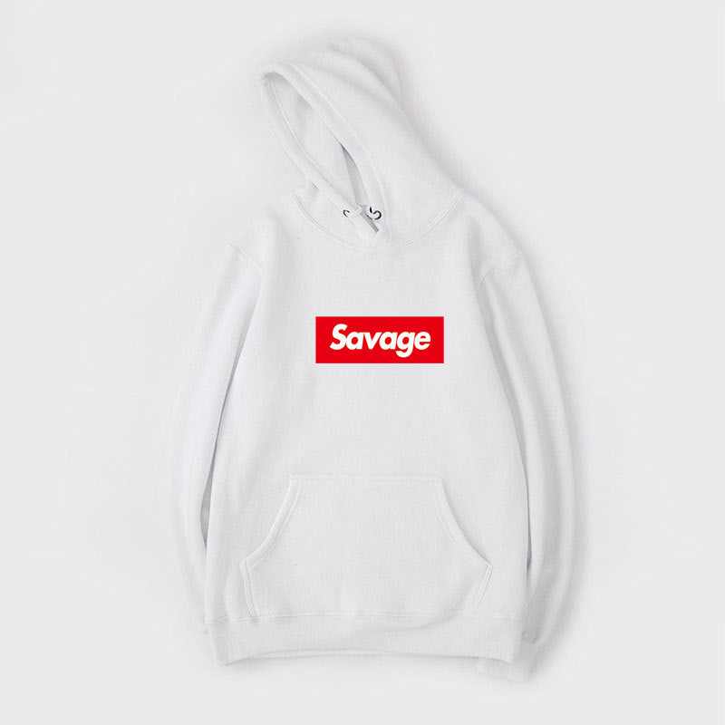 Unisex Hoodie Savage Long Sleeve Hooded Pullover