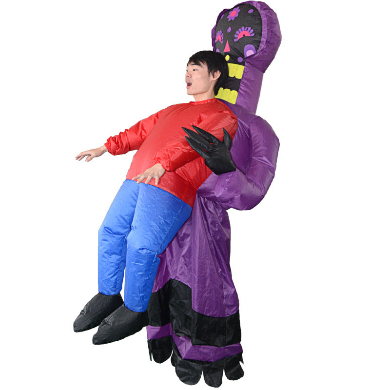 Halloween Cstumes Funny Inflatable Clothes Funny Walking Performance Props