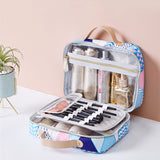 Travel Bag Large Capacity Waterproof Cosmetic Visible Double Slate Bag