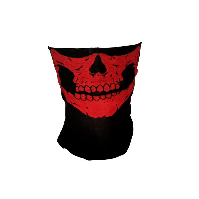 Halloween Costumes Windproof Magic Headscarves Skull Print Changeable Face Scarves