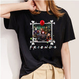 Friends Halloween Horror Printing Women's Short-sleeved Summer T-shirt