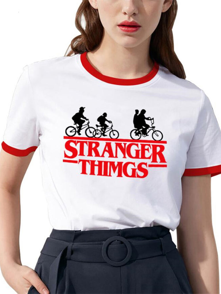 Stranger Things Top Fashion Crew Neck T-shirt
