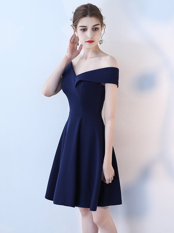 Evening Gown Off Shoulder Short Cocktail Dress