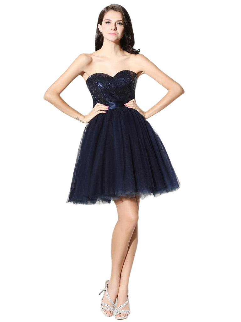 Womens Cute Mini Party Gown Sweetheart Neckline Homecoming Dress
