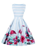 Plus Size Dress Retro Style 50s Swing Dress