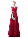 Womens Evening Dress Elegant V-neck Cap Sleeve Beading Party Dress