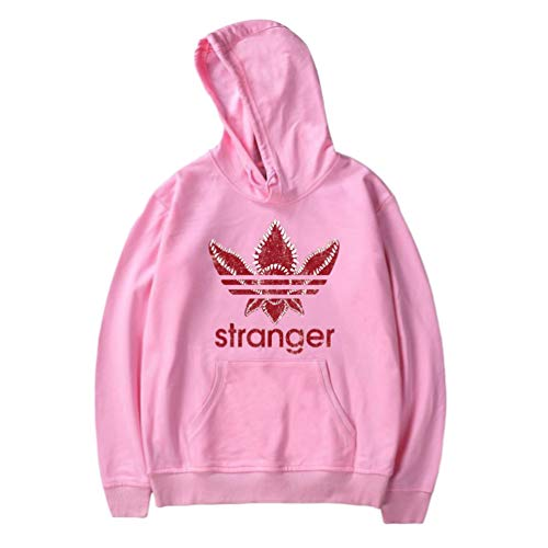 Stranger Things 2 Hoodies Casual Printing Velvet Lining Baggy Hooded Sweatshirt