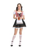 Oktoberfest Dress Red Plaid Off-Shoulder Dirndl Dress