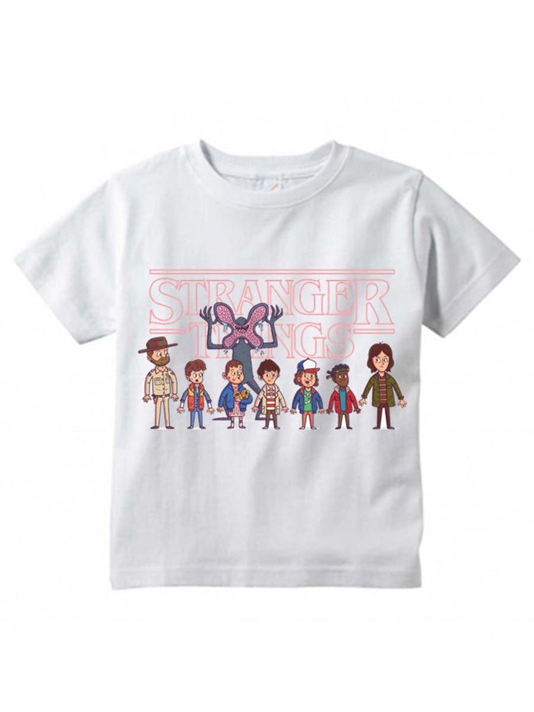 Kids Tops Stranger Things Upside Down Printed T-Shirt