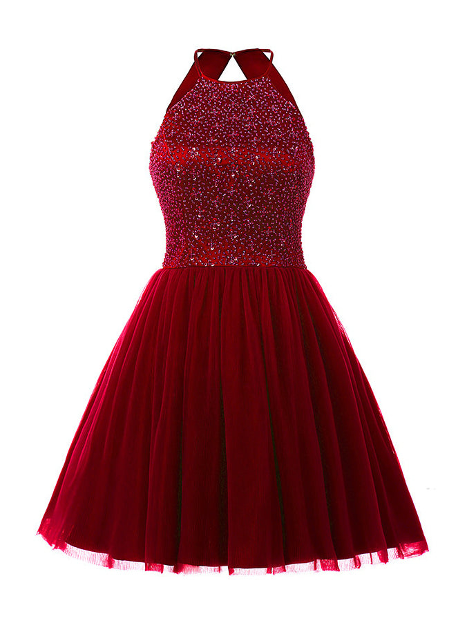 Homecoming Short Dress Sequined Party Gown