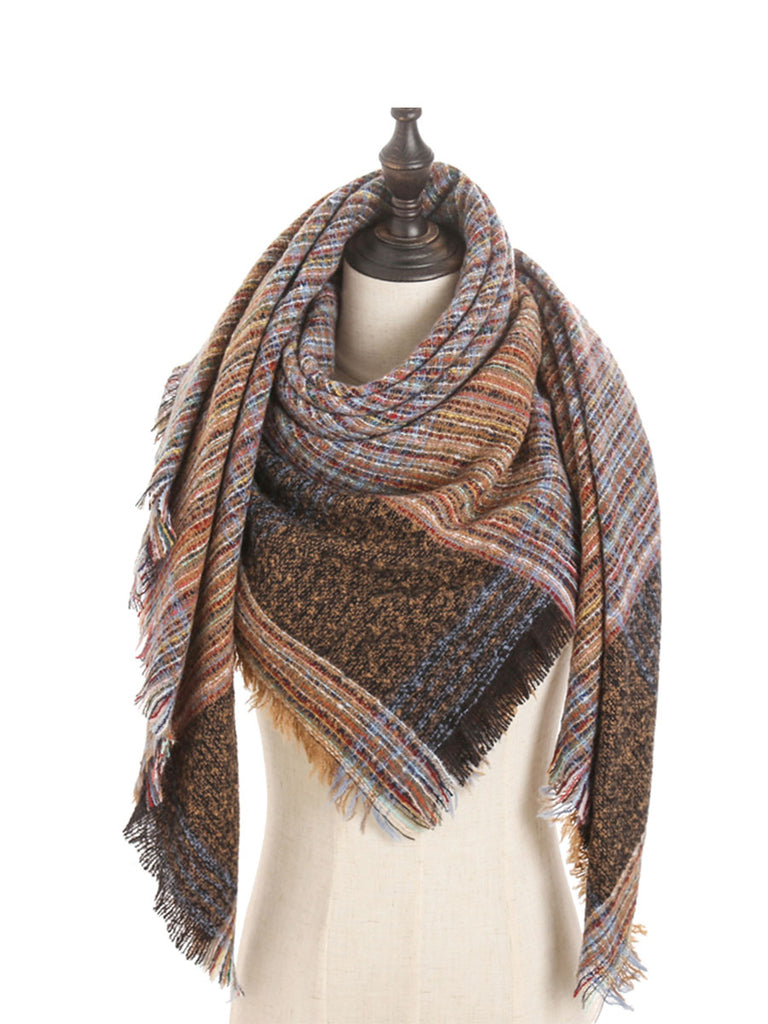 Winter Accessories Knit Cashmere Triangle Scarf
