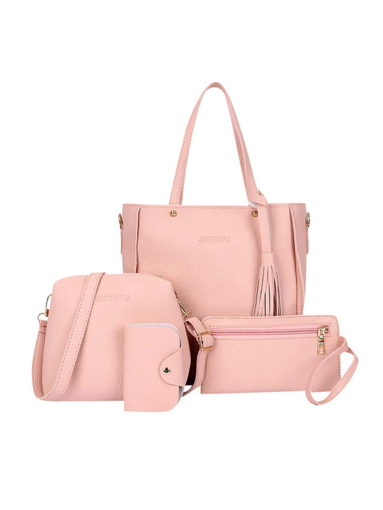 Woman Tote Sets Fashion Purse And Handbag Four-Piece Shoulder Bag
