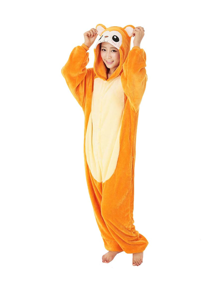 Animal Onesies Cartoon Monkey One-piece Sleepwear