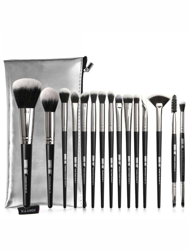 5-20Pcs Makeup Brushes Set Multifunctional Beauty Tools With Portable PU Case