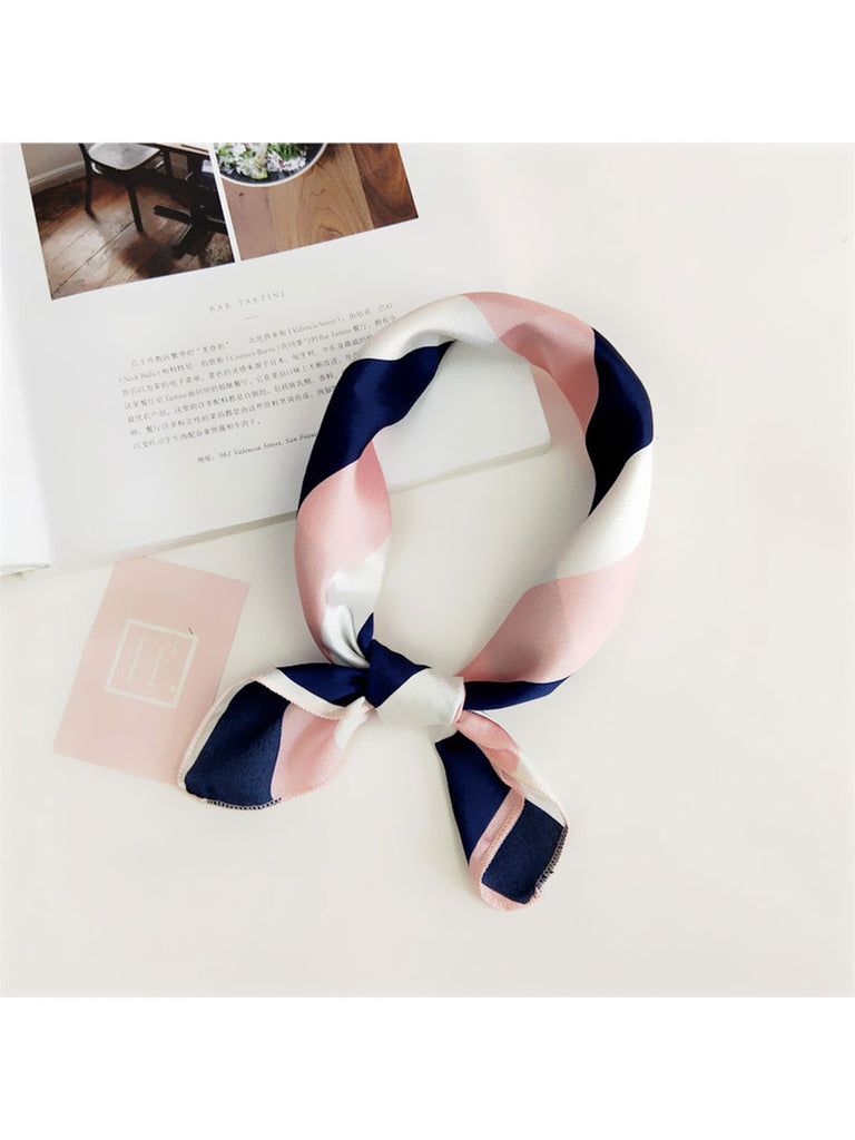 3 Pcs/Set Multifunction Square Scarf Elegant Print Head Neck Hair Tie Band