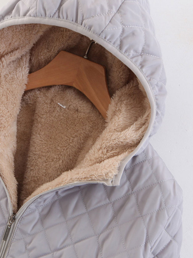 Loose Parkas Winter Quality Zipper Fleece Coat