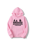 Oversized Hoodie Stranger Things Design Long Sleeve Hooded Pullover