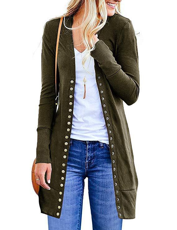 Women's Cardigan Long-sleeved Casual Knitwear