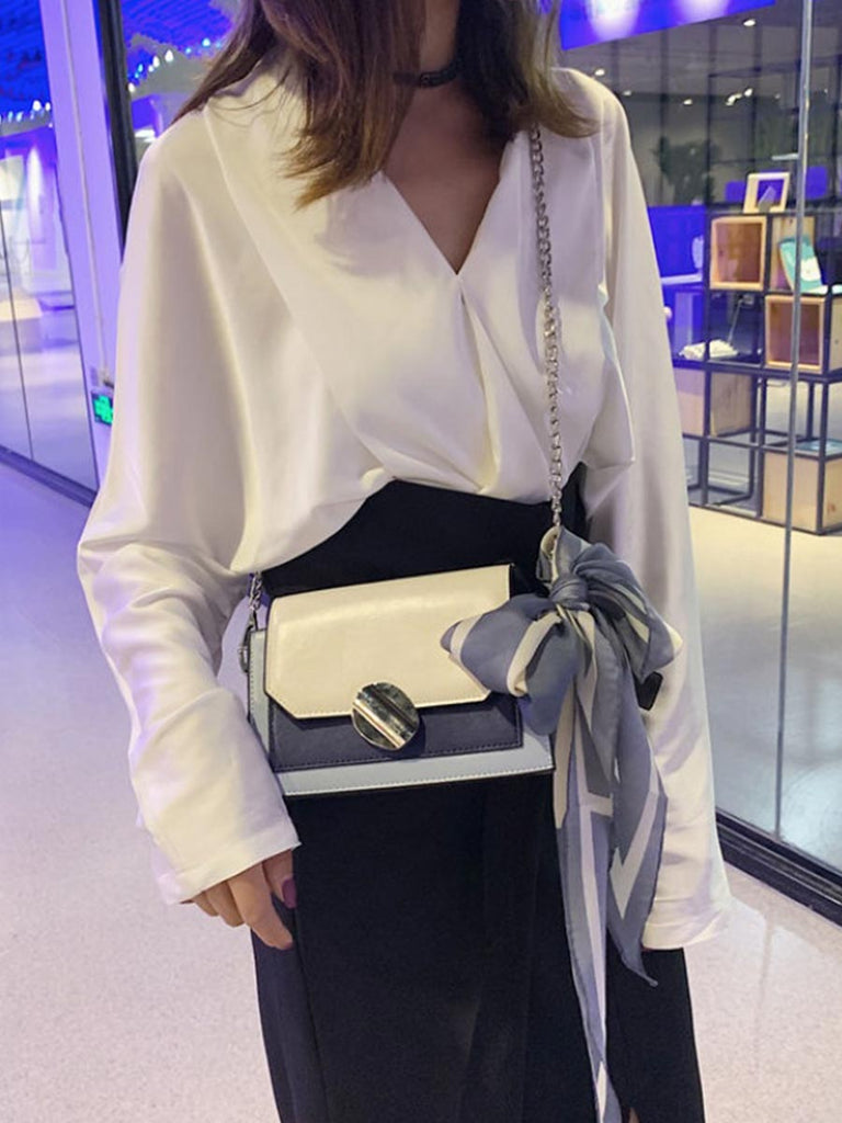 Fashion Scarf Shoulder Strap Handbag