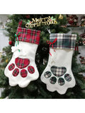 Personalized Paw-shaped Christmas Pet Stocking