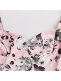 Sleeveless Bodycon Dress Pink Mermaid Floral Dress