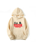 Hoodie Long Sleeve Hooded Stranger Things Letters Print Comfy Pullover