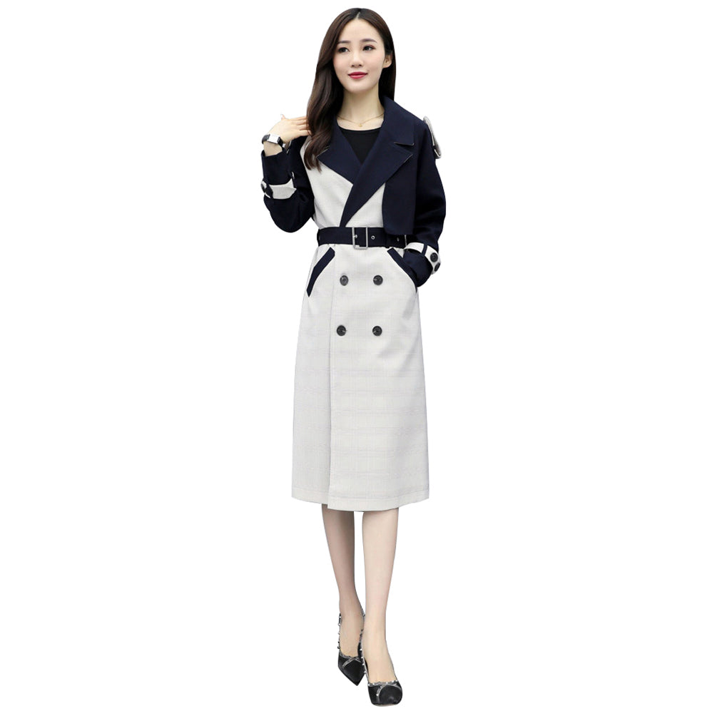 Ladies Button Cardigan Coat Elegant Blouson Outwear With Pocket