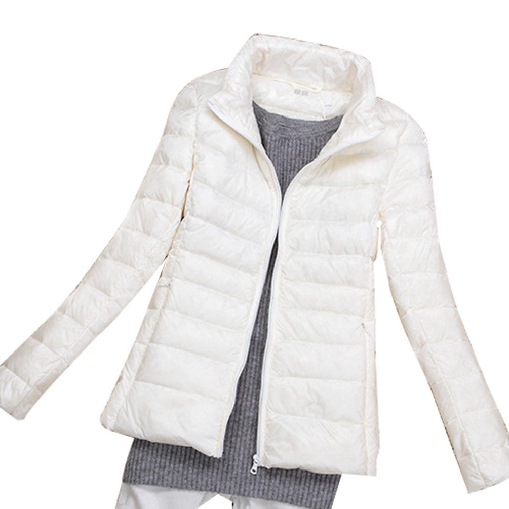 Down Coat Ladies Lightweight Warm Hooded Down-filled Jacket