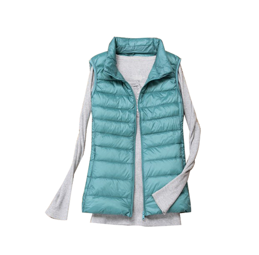 Ultra Light Down Jacket Down Vest Ladies Puffer Down Coat