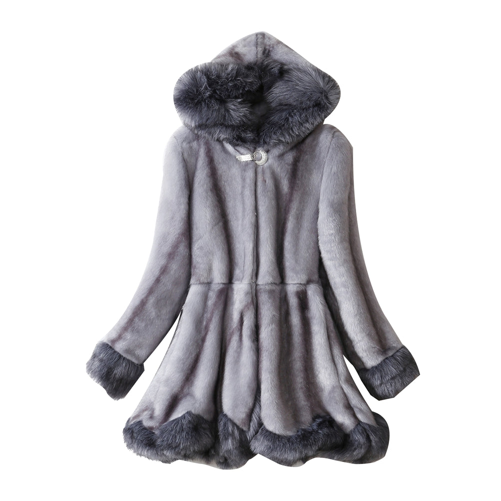 Hooded Overcoat Warm Faux Fur Long Coat