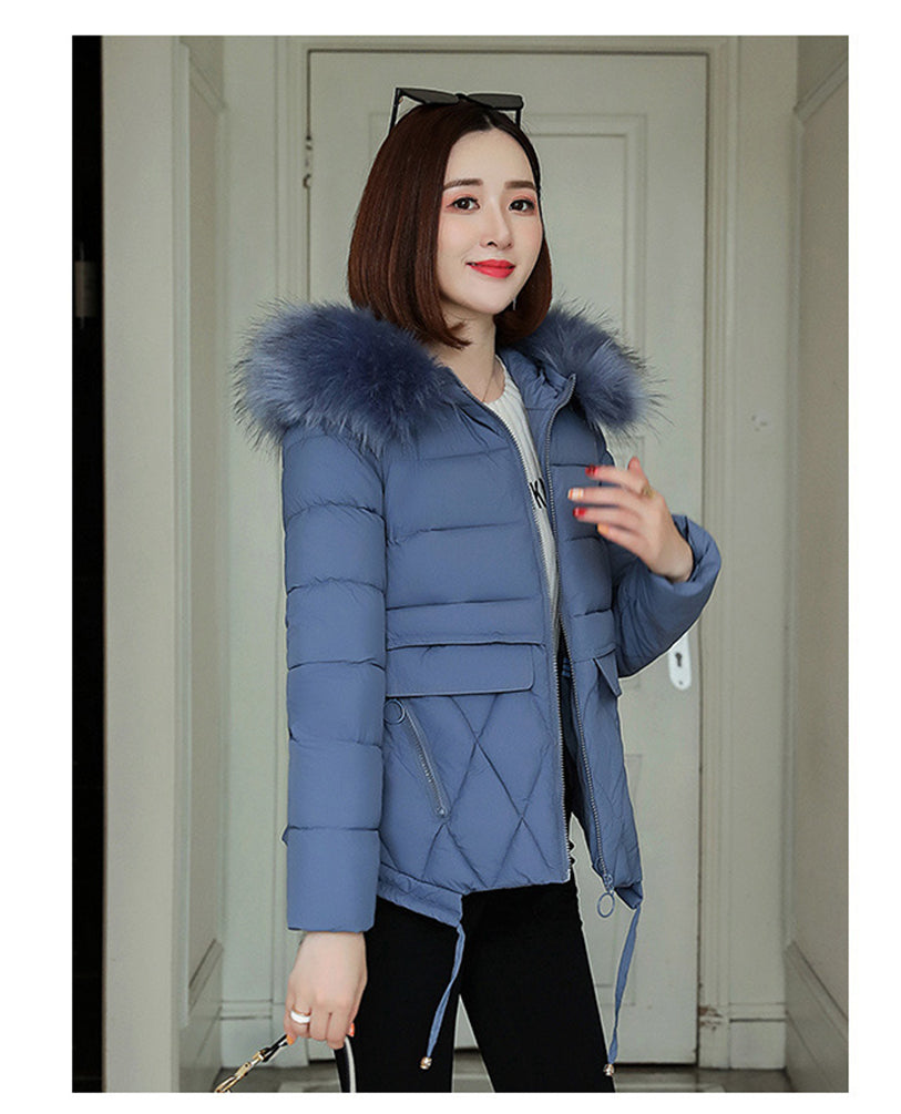 Hooded Outwear Waterproof Thermo-Guard Faux Fur Short Fit Jacket