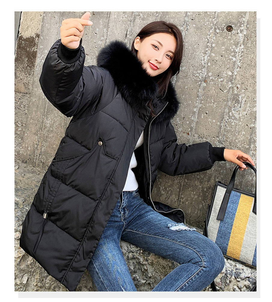 Womens Jacket Winter Warm Hooded Thick Outerwear