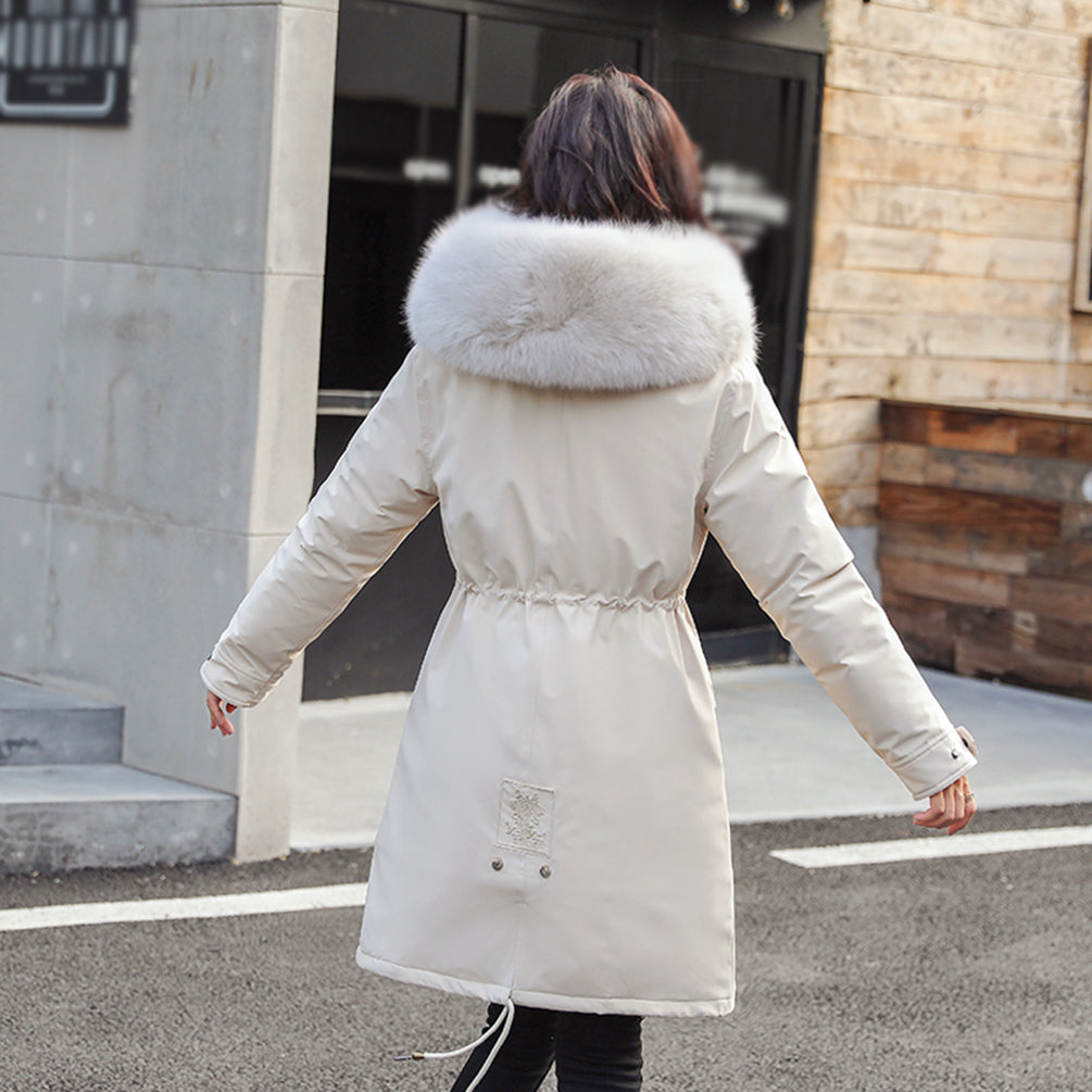 Winter Coat Faux Fur Hooded Outdoor Jacket