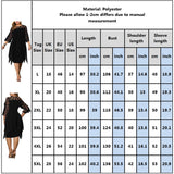 Women Plus Size Dress Sheer Lace Sleeve High Low Irregular Hem Swing Dress