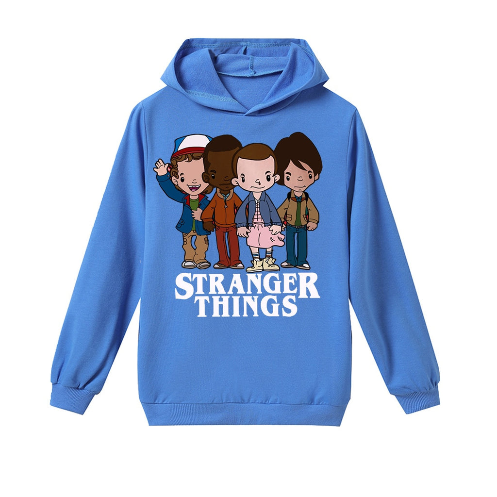 Kids Stranger Things T Shirt Long Sleeve Cartoon Print Pullover