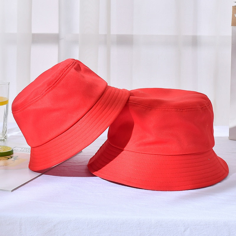 Unisex Foldable Bucket Hat Outdoor Sunscreen Basin Sun Prevent Hats