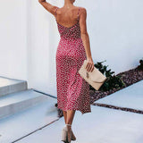 2020 Summer Dots Dress Women Long Party Dress Female Elegant Beach Dress Ladies V-neck Sexy Boho Backless Dresses For Women